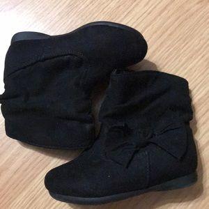 Garanimals Girls boots size 5 (toddler) black